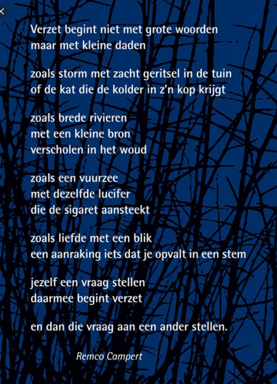 Verzet gedicht