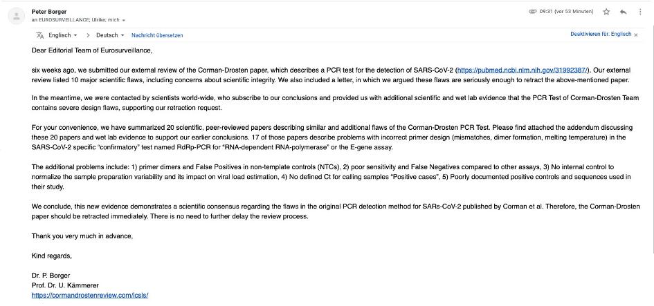 pcr test mail